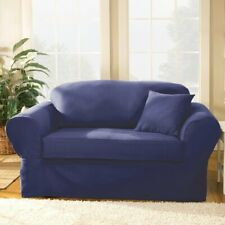 Sure Fit® Twill Supreme 2-Piece Sofa Slipcover NAVY