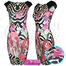 Stretch, Bodycon Plus Size Striped Short/Mini Women's Dresses