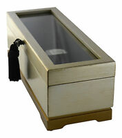 """Gold Display Watch Case Brand Bombay Dimensions 4""""H x 12.50""""W x 4.75""""D"""