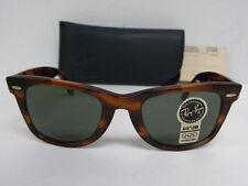 New Vintage B&L Ray Ban Wayfarer Mock Tortoise L2052 50mm Sunglasses USA NOS