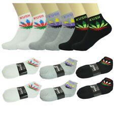 Wholesale Lot Men's Leaf Ankle Quarter Cotton Low Sport Socks Size 9-11 10-13