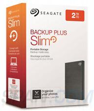 *NEW* Seagate Backup Plus Slim 2TB Portable USB 3.0 External Hard Drive Black
