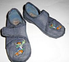 Hausschuhe Schuhe für Kinder in blau mit Skater Krokodil Größe 25 super fit