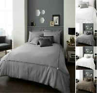 Diamond Luxuries AURA Pleated Duvet Cover+Pillow Case Warm Cozy Bed Set All Size