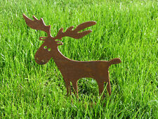 Elch Geweih 2 Größen Elchgeweih Edelrost Metall Rost country style moose