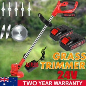 24V Weed Eater Lawn Edger Cordless Grass String Trimmer w/ Charger 2 Batteries