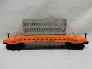 POSTWAR LIONEL 6519 ALLIS-CHALMERS FLAT CAR WITH CONDENSER, C-7 EX