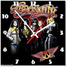 Sveglia da parete, orologio AEROSMITH rock music MDF wall clock wood,bar, pub