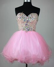 New Cocktail SHORT Embroidery Rhinestones beaded homecoming Party prom dress