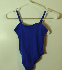 Child Royal Blue Camisole Sleeve Ballet Leotard Extra Small 3-4