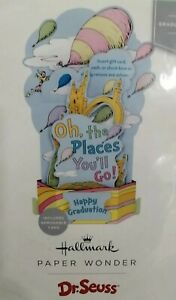 Hallmark Paper Wonder Pop Up Dr. Seuss Graduation Card The Places You'll Go New