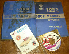 1953 ford shop manuals & parts cd sunliner ranch victoria crestline  customline