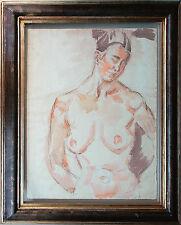 Fritz Wimmer 1870-1960 Frauen-Akt Aquarell 62 x 49 cm publiziert, Katalog gratis