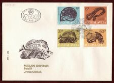 FDC 1985 Fossils Animals Science Biology Museum Yugoslavia Belgrade Serbia