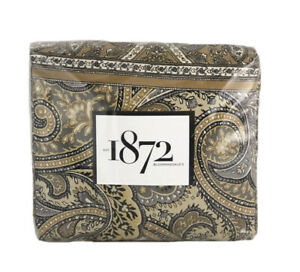 1872 Meera Multi Floral 100% Cotton Queen Duvet Cover $400