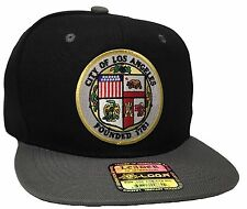 City Of Los Angeles Hat Color Black Gray Snapback Adjustable