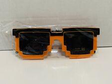 Loot Crate Exclusive 8-Bit Sun Glasses Orange Black