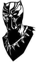 Mopar Dodge Marvel Black Panther Face decal Sticker Car Truck window 12 Colors