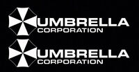 2X White Umbrella Corporation Hive Resident Evil Vinyl Sticker Car  Window Decal