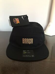 🔥NWT NIKE FC BARCELONA BARCA 2020/21 AW84 UNISEX HAT ONE SIZE OSFA BLACK