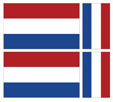 4 X DUTCH HOLLAND NETHERLANDS FLAG VINYL CAR VAN IPAD LAPTOP STICKER