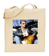 Shopper Tote Bag Cotton Canvas Cool Icon Stars George Michael Ideal Gift Present