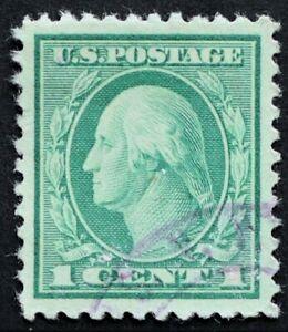 U.S. Used #498 1c Washington, Superb Jumbo. Face-Free Magenta Cancel. A Gem!