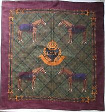 -Superbe grand Foulard RALPH LAUREN  laine & soie  TBEG  vintage scarf