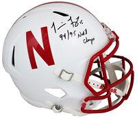 "Nebraska Tommie Frazier ""94/95 Nat'l Champs"" Signed F/S Speed Rep Helmet BAS Wit"