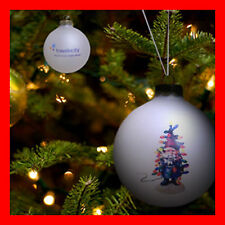 Travelocity Roaming Gnome Glass Ball Ornament Holiday Tree Decoration ~ NEW