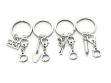 4 Best Friend Keyrings, Partner in Crime, Whisical and Fun Friendship Set