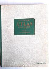 Atlas classique Gourou 1954 France union française Hachette  specimen