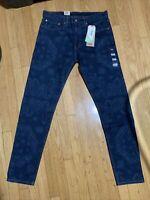 Levi's Men's 512 Slim Taper Fit Jeans Blue Comet Bandana Overdye - Stretch 34/34