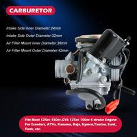 Carburetor Fuel Carb For GY6 125cc 150cc 4 stroke Scooters ATVs Taotao SunL Tank