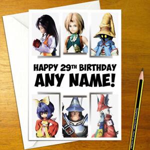 FINAL FANTASY IX Personalised Birthday Card - A5 ff9 ffix ff zidane dagger vivi