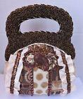 Beaded Tapestry Fabric Opera Purse Steampunk Bag Regency Romantic Era Handbag