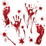 Halloween Window Door Wall Stickers Party Decorations Scary Spooky Gels Blood