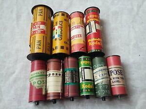 10x exposed vintage mystery contents old retro films kodak spools