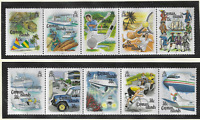 Cayman Islands Stamps Scott #666 To 667, Mint Never Hinged
