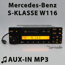 Mercedes Special BE1350 AUX-IN MP3 Klinke W116 Radio S-Klasse Kassettenradio RDS
