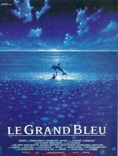 LE GRAND BLEU Affiche Cinéma Pliée 53x40 Movie Poster LUC BESSON