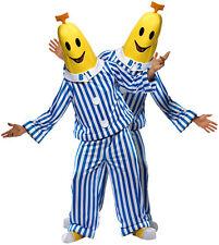 2 x Adult Bananas in Pyjamas Fancy Dress Costume