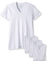 2(X)IST Men's Essential Cotton Slim Fit  V-Neck T-Shirt Pack of 3 Size XL White
