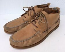 Sperry Top-Sider Tan Leather Moc Toe Chukka Ankle Boots Men's 13 M Boat Shoes