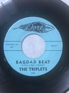 "THE TRIPLETS Bagdad Beat / Gently My Love 45 Instrumental Rock 7"" DORE"