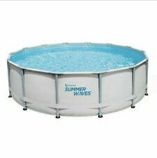 Summer Waves 14ft x 42 Elite Metal Frame Pool with Filter, Pump, Cover, & Ladder