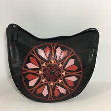 Leather Floral Patchwork Hobo Shoulder Bag Purse Multicolor boho festival