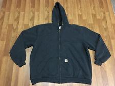 MENS XL- Carhartt 100632 Thermal Lined Rain Defender Zip Up Hooded Sweatshirt