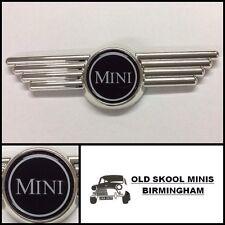 Classic Mini NERO COFANO/Boot Ala Badge Austin Morris Cooper Rover 3p2