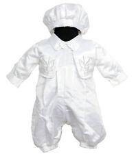NUOVO Ragazzo Raso Battesimo Tre Pezzi Set Outfit 0-3 mesi